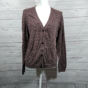 14th & Union brown cardigan open back